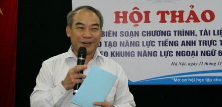 """Ngày 11/11, tại Hà Nội diễn ra hội thảo """"Biên soạn chương trình, tài liệu đào tạo năng lực tiếng Anh trực tuyến theo khung năng lực ngoại ngữ 6 bậc"""""""