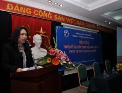 TS. Trần Thị Lan Thu - Giám đốc Trung tâm Đào tạo E-Learning phát biểu khai mạc hội thảo