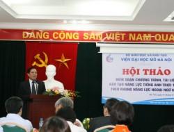 TS Lê Văn Thanh - Viện trưởng Viện Đại học Mở Hà Nội tổng kết Hội thảo