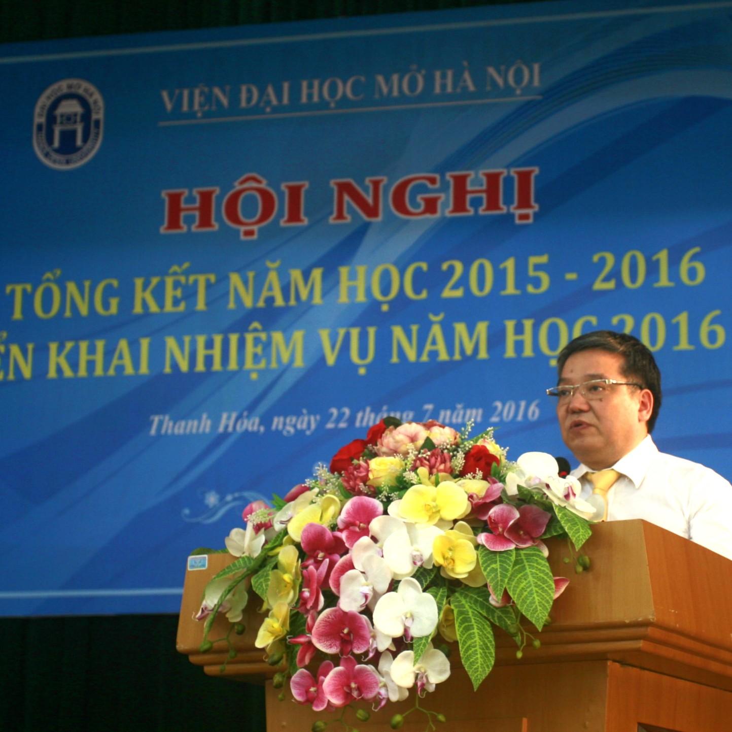 Viện Đại học Mở Hà Nội tổ chức thành công Hội nghị tổng kết năm học 2015 – 2016