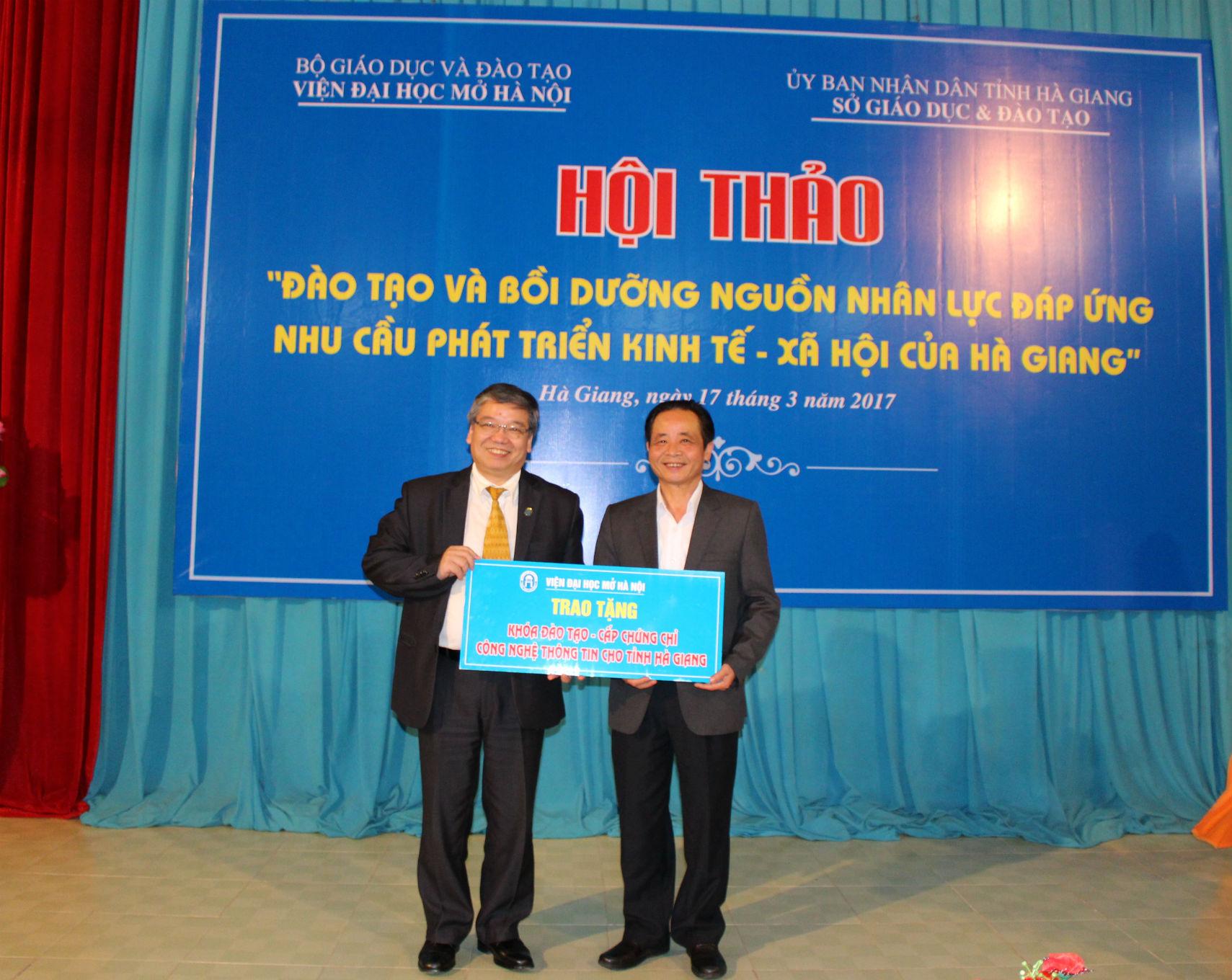 """Hội thảo """"Đào tạo và bồi dưỡng nguồn nhân lực đáp ứng nhu cầu phát triển KT-XH của tỉnh Hà Giang"""""""