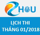 Tháng 01/2018 – Chương trình EHOU: Lịch thi