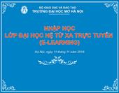 Thông báo nhập học Chương trình đào tạo Đại học trực tuyến EHOU ngày 11/11/2018